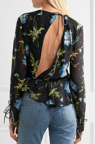 topshop blouse back